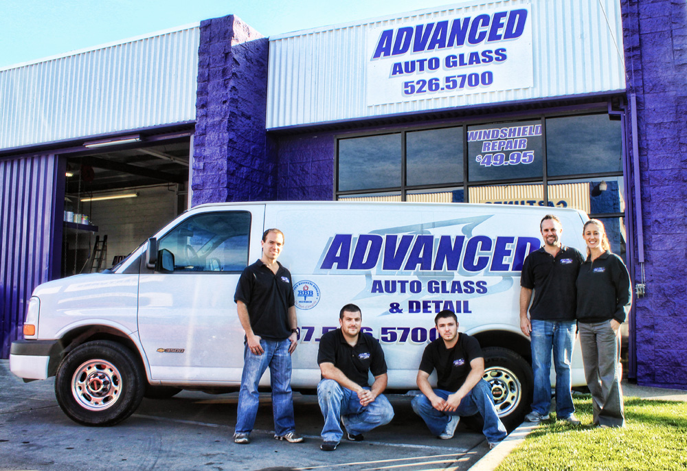 Auto and car glass repair and glass replacement including rock chip repair and complete windshield replacement